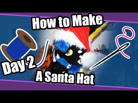 //Christmas Countdown 2018// ~ Day 2 ~ Santa Hat for Fursuit Tutorial