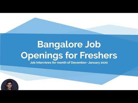 Fresher Jobs In Bangalore | Bangalore Job Vacancy 2019