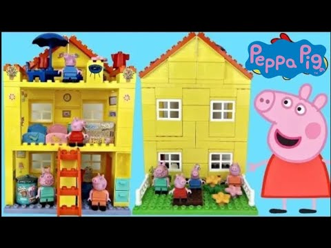 Nick Jr. Peppa Pig Family House DUPLO Lego Construction Set George Shopkins Happy Places Toys / TUYC