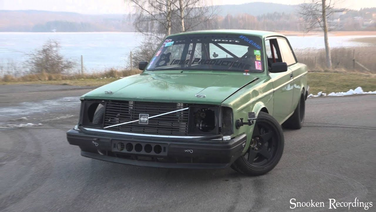 Volvo 240 t6 vvt 600whp+ drift and burnout test - YouTube
