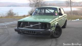 Volvo 240 t6 vvt 600whp+ drift and burnout test