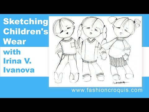 skecthing fashion design project for children's wear with Children's Wear Fashion Illustration