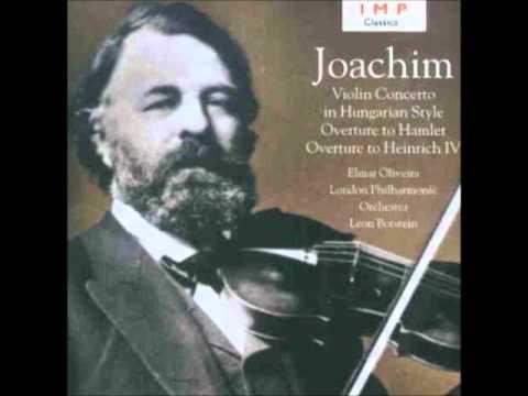 Oliveira plays Joseph Joachim Violin Concerto, Overtures