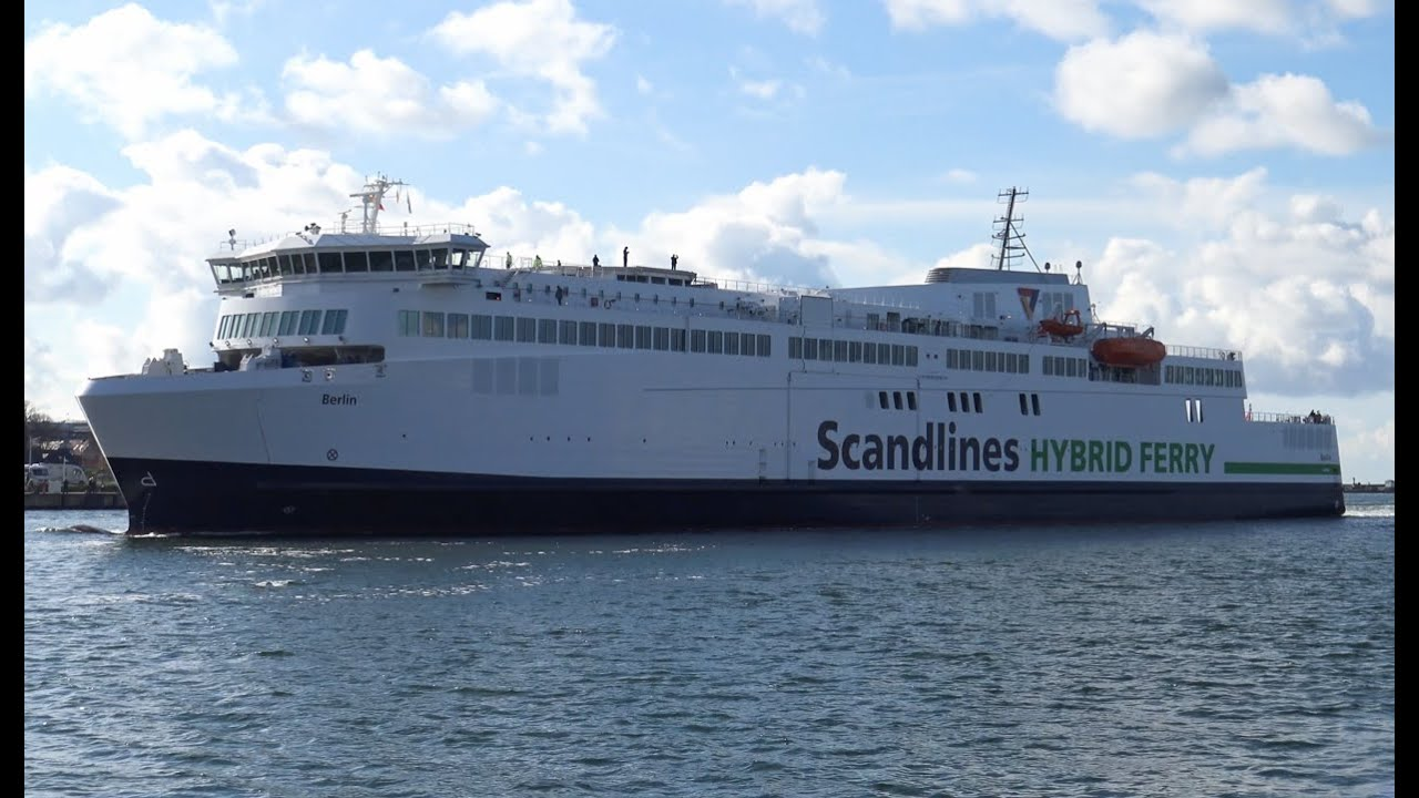 4k maiden call new scandlines ferry berlin at rostock after 4 years delay youtube. Black Bedroom Furniture Sets. Home Design Ideas