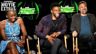 AVENGERS: INFINITY WAR | Mark Ruffalo, Chadwick Boseman & Danai Gurira talk about the movie