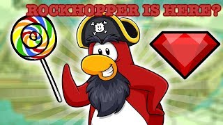 ROCKHOPPER IS HERE + NEW RUBY PIN AND LOLIPOP PIN (Club Penguin Rewritten)