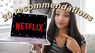 my TOP 20 NETFLIX RECOMMENDATIONS (aka the best shows to BINGE WATCH during quarantine)