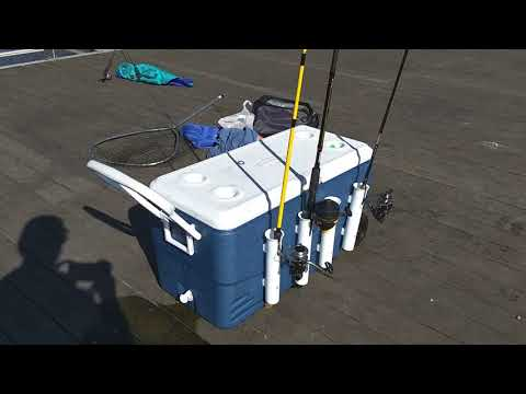 Make a Coleman Cooler into an Awesome Fishing Rod Holder for Catfish, Carp, and More!