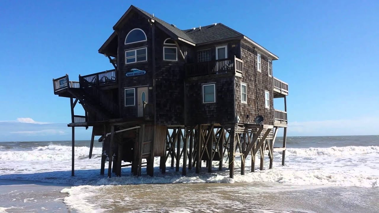 Rodanthe Wave Breaker House At Mirlo Beach