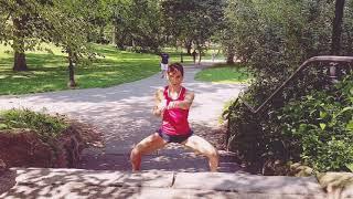 Karate. Entrenamiento Central Park (New York) Sandra Sánchez