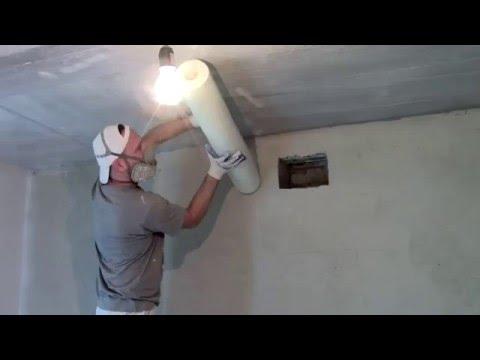 стеклохолст на потолок 2
