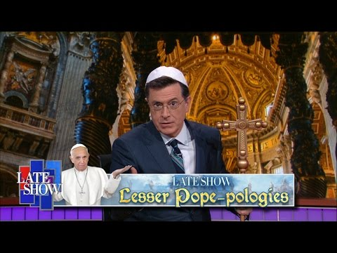 "The Late Show's ""Lesser Pope-pologies"""