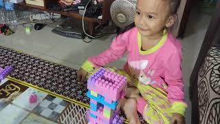Membuat piala dari mainan Lego dengan zhafirah toys dan mbak Aulia