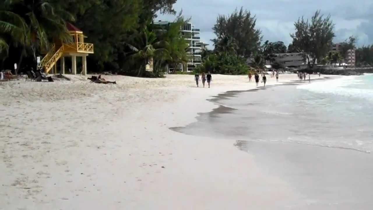 Walking Along Maxwell Beach In Barbados February 19th 2017