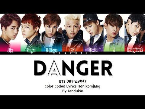 BTS (방탄소년단) - 'DANGER' Lyrics [Color Coded Han|Rom|Eng]