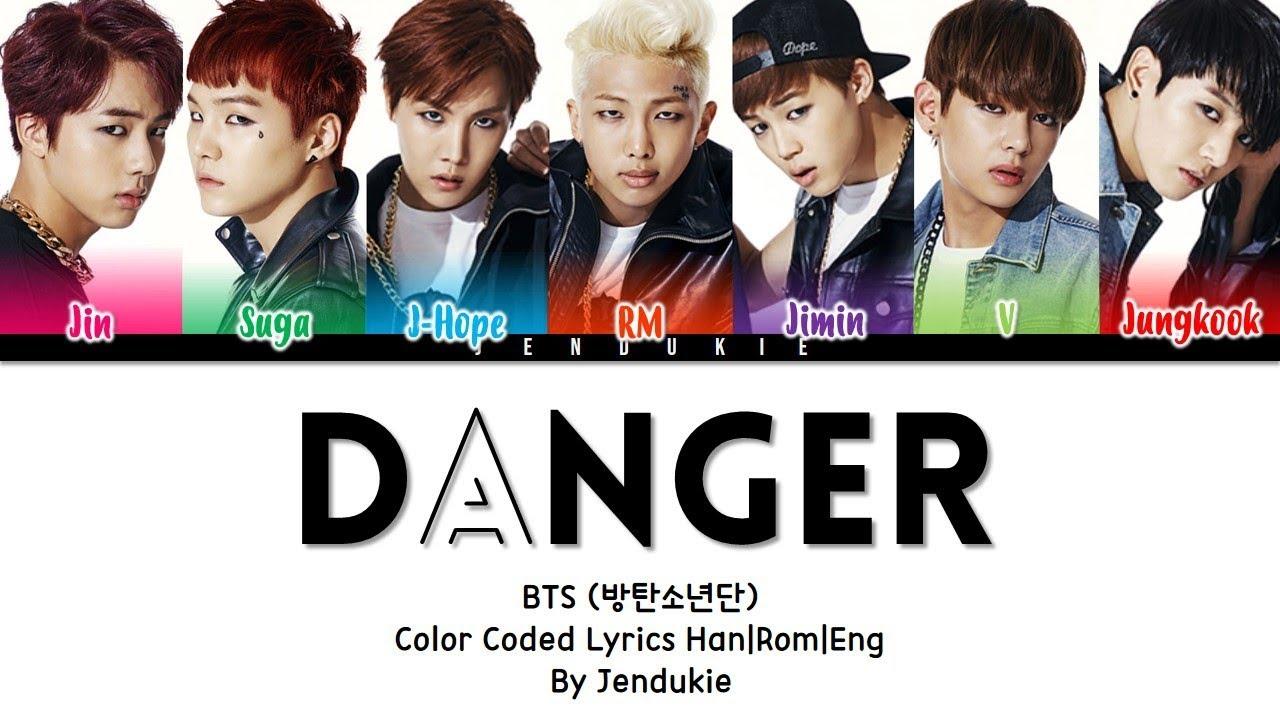 Download BTS (방탄소년단) - 'DANGER' Lyrics [Color Coded Han Rom Eng]