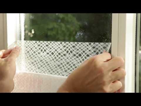 Apply D C Fix Static Window Film Statische Fensterfolie Anbringen Youtube