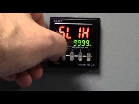 Omron H5CX_N Digital Timer Advanced Programming on