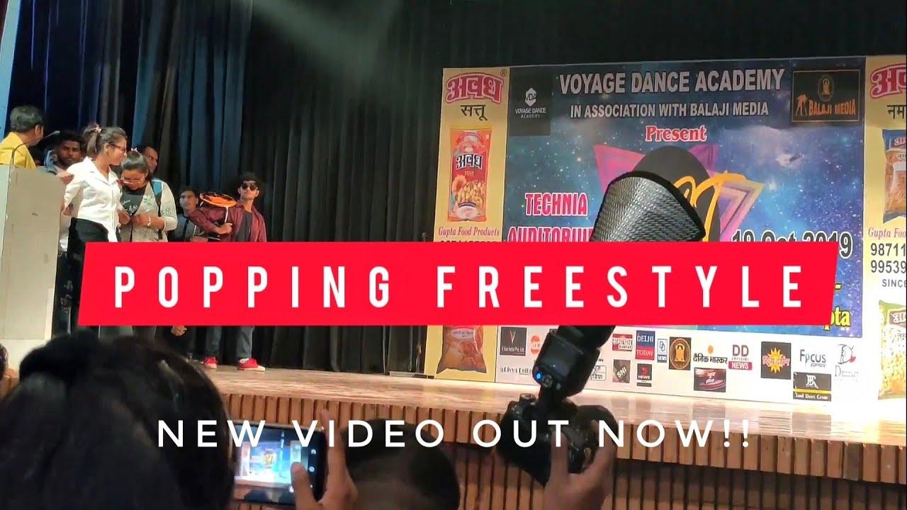 Popping Freestyle Dance    Stage performance Delhi    Shivam Kidd Kittanu