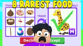 I traded the 8 RAREST FOODS in Adopt Me!
