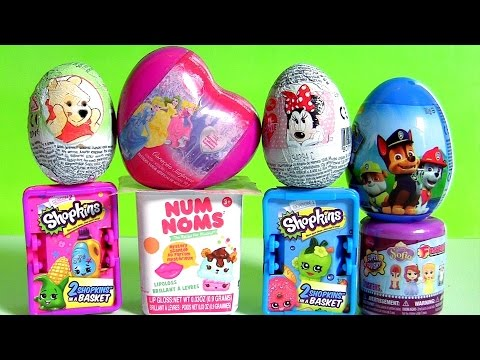 SURPRISE Disney Toys Princess Sofia Pooh Minnie PJ MASKS Peppa Pig Paw Patrol NUM NOMS Princesses