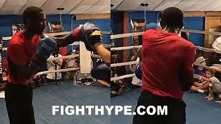 TERENCE CRAWFORD LIGHTS UP MITTS WITH QUICK COMBOS; LOOKS SMOOTH & READY TO SNATCH INDONGO'S STRAPS