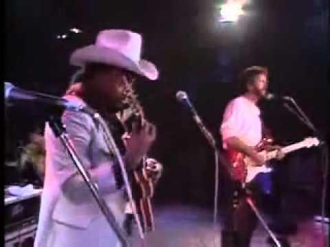"Otis Rush & Eric Clapton, in ""Double Trouble"", Montreux Jazz Festival, 1986."