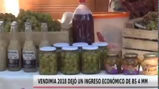 VENDIMIA 2018 DEJÓ UN INGRESO DE BS 4 MM