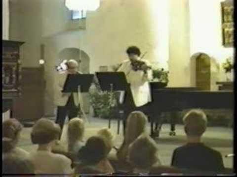 Isaac Stern & Mark Peskanov play Leclair (2 of 3)