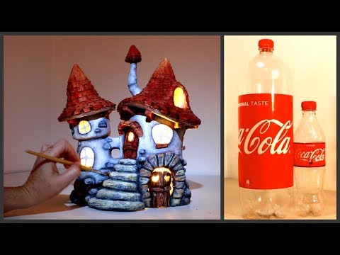 ❣DIY Inn Fairy House Lamp Using Coke Plastic Bottles❣