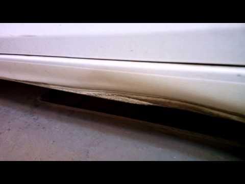 Chevrolet Cruze рихтовка порогов в гаражных условиях