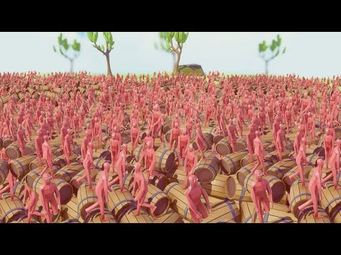 1,000,000 EXPLOSIVE FUEL BARRELS BLOW UP AT ONCE! (Totally Accurate Battle Simulator)