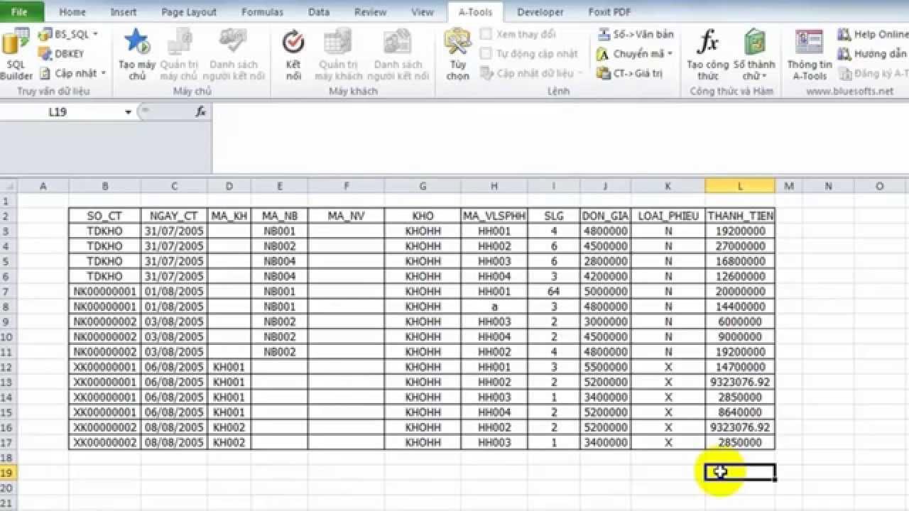 Tổng quan về phần mềm Add-in A-Tools trên Excel
