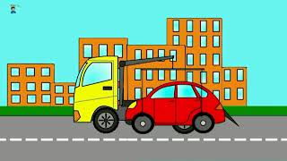 Spell The Vehicles Concrete Mixer. Tow Truck. Loader. Cars for children
