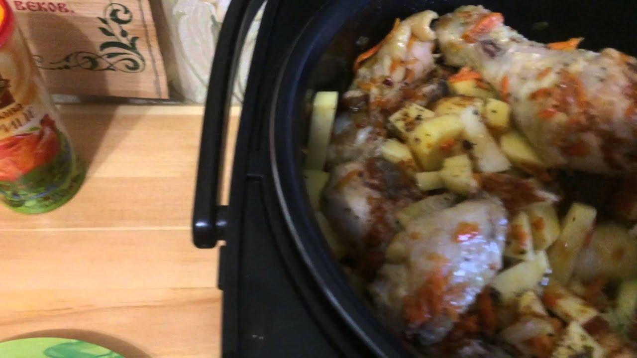 Картофель Тушеный с Курицей в Мультиварке (Картошка с Мясом в Мультиварке Поларис)