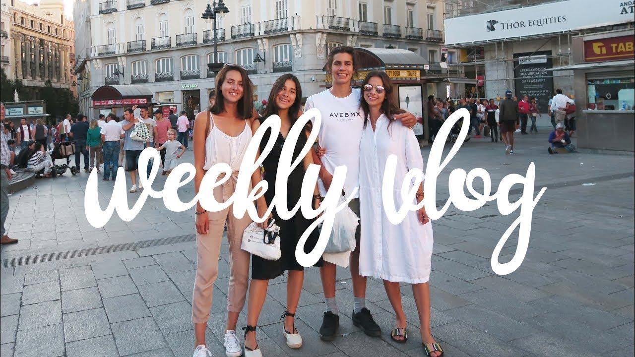 Weekly Vlog z Bratem / Kuba i Lena w Madrycie