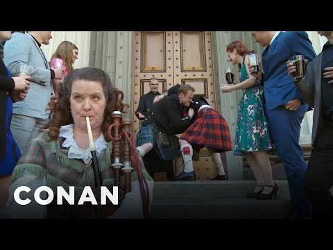Footage From Northern Ireland's First Same-Sex Wedding - CONAN on TBS