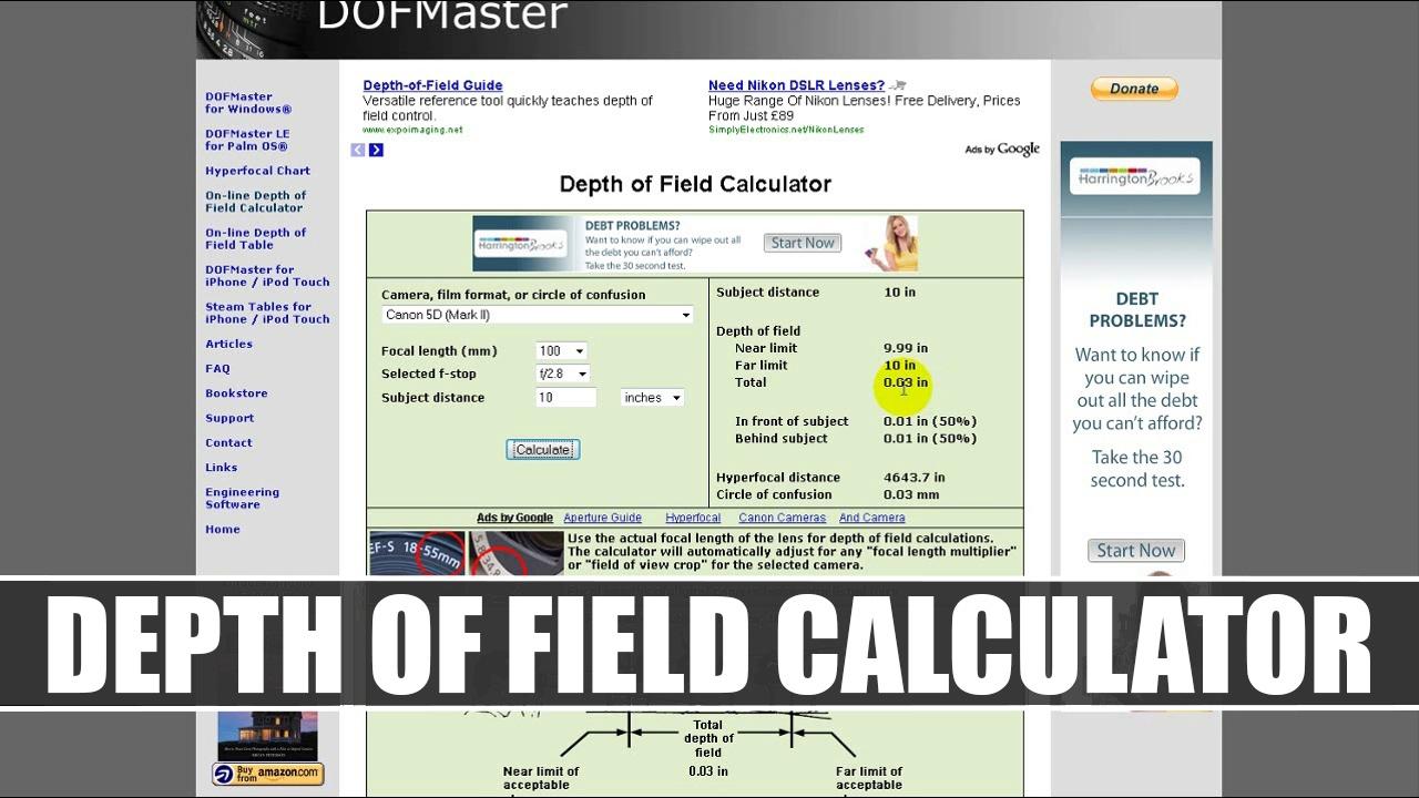 3  Depth of Field Calculator