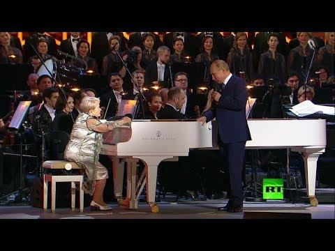 شاهد.. الرئيس بوتين يهنئ -أسطورة الموسيقى- الروسية باخموتوفا بعيد ميلادها الـ90  - 20:59-2019 / 11 / 11