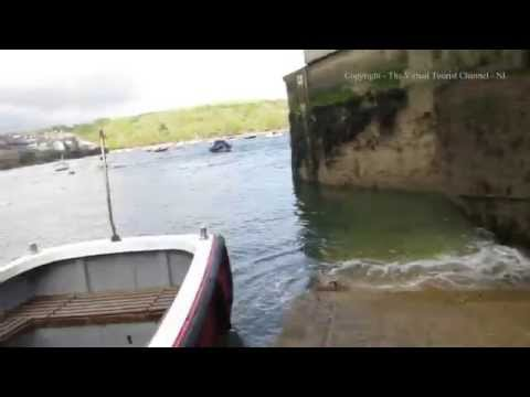 Catching the Polruan Ferry at Whitehouse in Fowey Cornwall