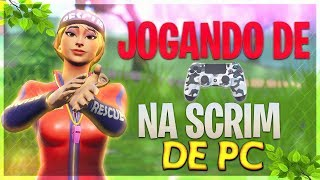 JOGAMOS DE CONTROLE NA SCRIM DE PC E GANHAMOS!! (Fortnite Battle Royale PS4 PRO)