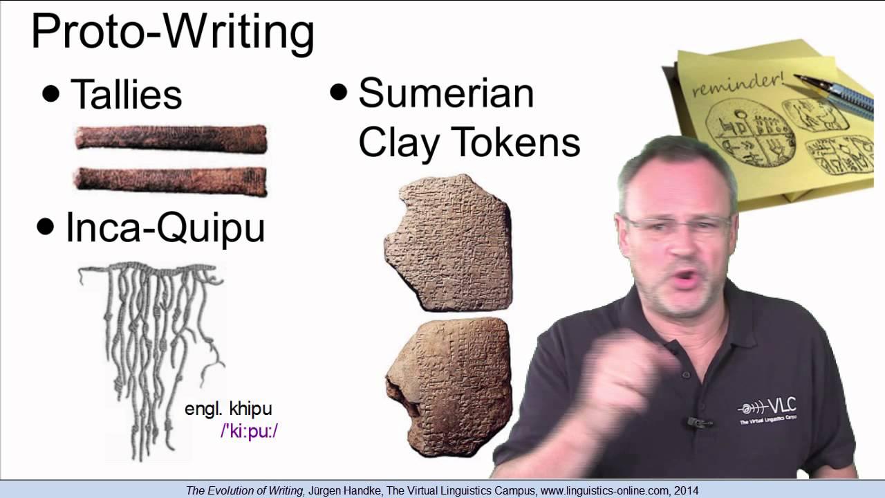 evolution of the english writing