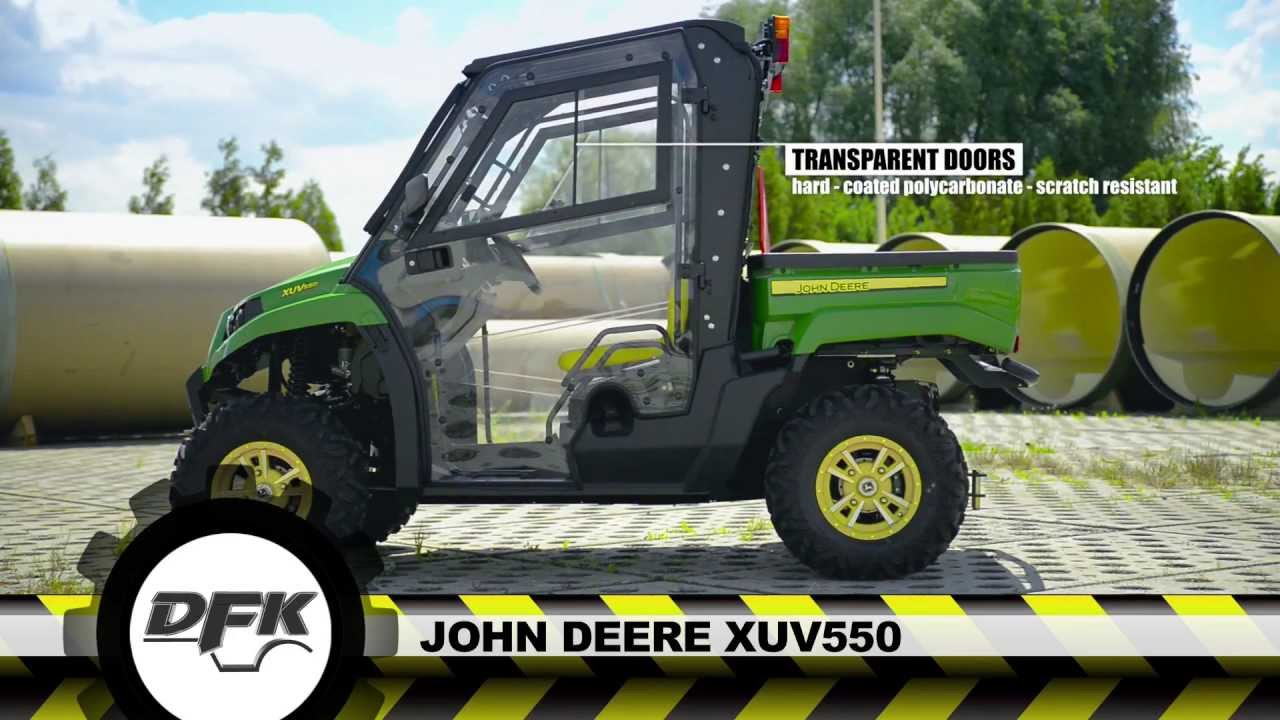 John Deere Gator Xuv 550 Model Utv With The New Cab Youtube