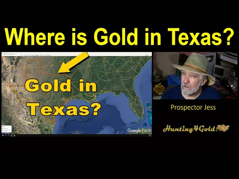 Where Is Gold In Texas? (USGS MRDS Gold Maps Review)