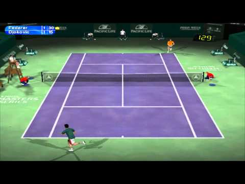 Tennis Master Series 2003- Gameplay | NO COMMENTARY | Exhibition match- Indian Wells