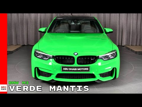 2018 BMW M3 Individual in Verde Mantis Green
