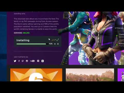 How To Download Fortnite Save The World On Pc - Wont Download