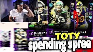 99 OVERALL!! HUGE TOTY SPENDING SPREE & PACK OPENING!! Madden 20