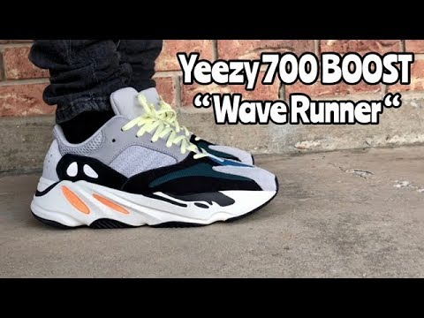 "47b1574bde727 adidas Yeezy 700 BOOST ""Wave Runner"" on feet - YouTube"