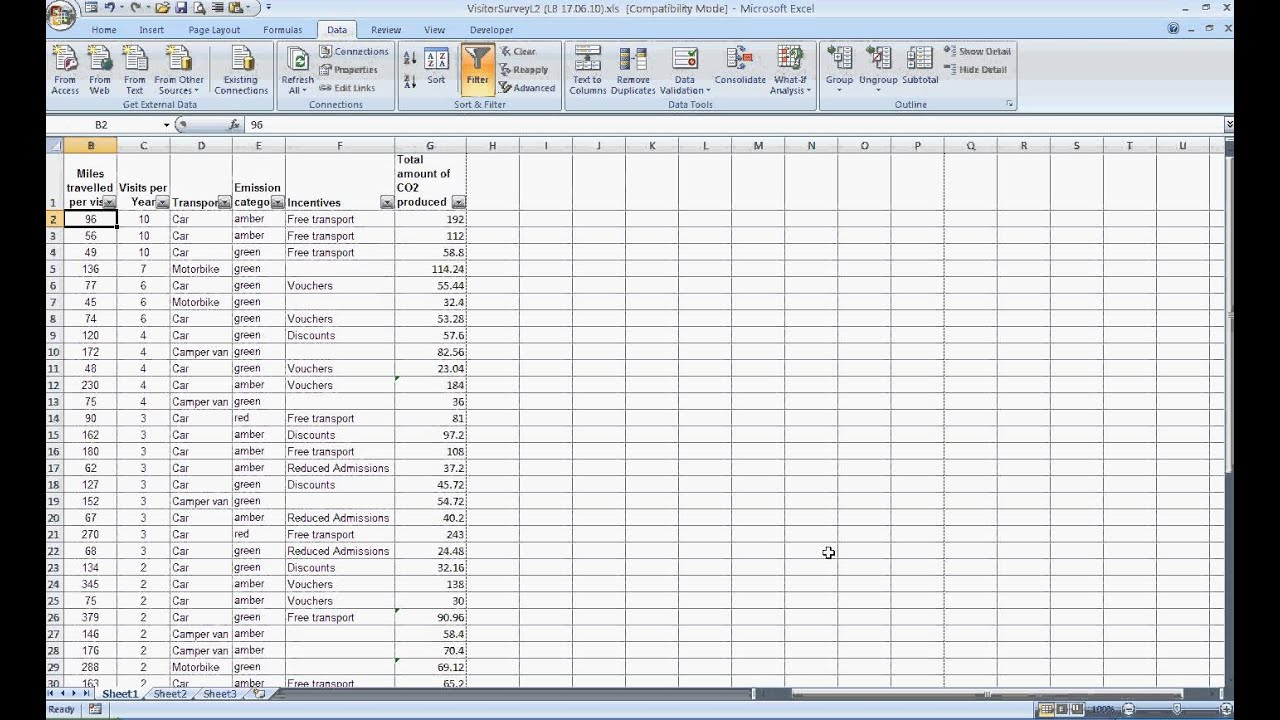 Functional Skills Level 2 Task 2a Spreadsheet Excel